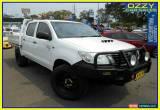 Classic 2013 Toyota Hilux KUN26R MY12 SR (4x4) White Manual 5sp M Dual Cab Pick-up for Sale