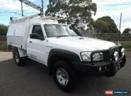 2014 Nissan Patrol MY14 DX (4x4) White Manual 5sp M Leaf Cab Chassis for Sale