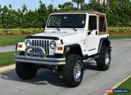 2001 Jeep Wrangler 4x4 Sport for Sale