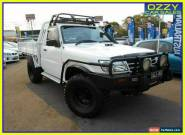 2003 Nissan Patrol GU DX (4x4) White Manual 5sp M Cab Chassis for Sale