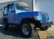 1989 Jeep Wrangler Wrangler YJ for Sale
