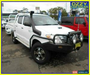 Classic 2008 Toyota Hilux KUN26R 08 Upgrade SR (4x4) White Manual 5sp M Dual C/Chas for Sale
