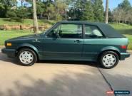 1991 Volkswagen Rabbit Cabriolet for Sale