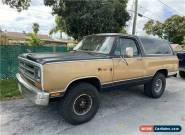 1986 Dodge Ram Charger for Sale
