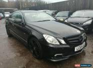 2010 MERCEDES E350 3.0 CDI B/E SPORT AUTO  COUPE NON RUNNER / SPARES OR REPAIR for Sale
