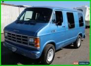 1986 Dodge Ram Van 3 Dr Cargo Van for Sale