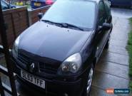 2003 (53 plate) RENAULT CLIO EXTREME 2 16V BLACK spares or repair for Sale