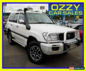 Classic 2001 Toyota Landcruiser HDJ100R GXL (4x4) White Manual 5sp M Wagon for Sale