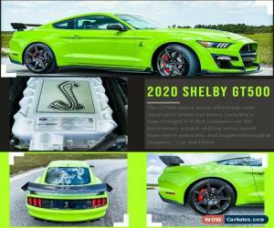 Classic 2020 Ford Mustang SHELBY GT500 Carbon Track Pack for Sale