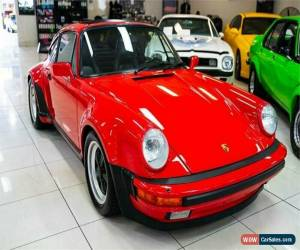 Classic 1986 Porsche 930 Turbo Red Manual M Coupe for Sale