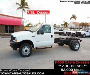 Classic 2002 Ford F-450 7.3L Diesel Cab and Chassis for Sale