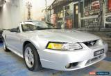 Classic 2001 Ford Mustang Cobra Silver Manual 5sp M Convertible for Sale