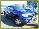 2015 Ford Ranger PX XLT 3.2 (4x4) Blue Automatic 6sp A Dual Cab Utility for Sale