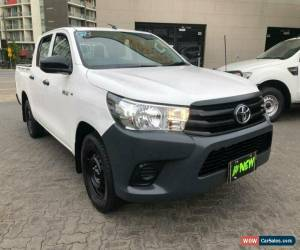 Classic 2015 Toyota Hilux TGN121R Workmate White Automatic 6sp A Dual Cab Utility for Sale