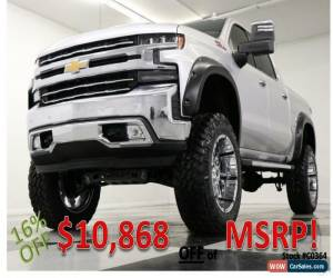 Classic 2020 Chevrolet Silverado 1500 Lifted 4X4 LTZ Sunroof GPS Leather Silver Crew for Sale