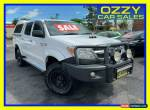 2006 Toyota Hilux KUN26R SR (4x4) White Manual 5sp M Dual C/Chas for Sale