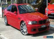 2004 BMW M3 E46 Red Automatic 6sp A Coupe for Sale