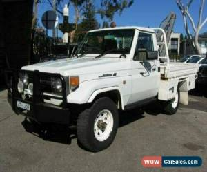 Classic 1998 Toyota Landcruiser FZJ75RP (4x4) White Manual 5sp M Cab Chassis for Sale