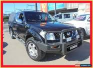2007 Nissan Navara D40 ST-X Black Manual 6sp M Utility for Sale