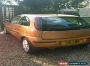 "2004 VAUXHALL CORSA ACTIVE 16V GOLD  Spares/Repairs with private Plate ""S19 CMR"" for Sale"