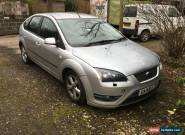 2006 FORD FOCUS ZETEC CLIMATE TDCI SILVER spares or repair for Sale
