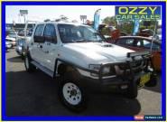 2002 Toyota Hilux KZN165R (4x4) White Manual 5sp M Dual Cab Chassis for Sale