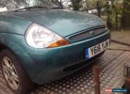 2001 Ford Ka 1.3 Petrol in Green With Full Leather Interior  (Spares or Repairs) for Sale