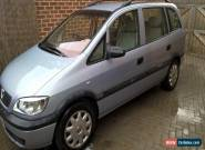 2000 VAUXHALL ZAFIRA 16V CLUB GREY 7 seats for Sale