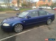 2001 VOLKSWAGEN PASSAT SPORT TDI BLUE  for Sale