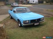 1981 WB Holden Ute / Runs Well/ Unregistered for Sale