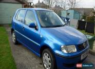 2001 VOLKSWAGEN VW POLO E BLUE 1.0 PETROL SPARES OR REPAIR for Sale