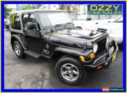 2006 Jeep Wrangler TJ Sport (4x4) Black Automatic 4sp A Hardtop for Sale