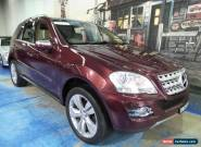 2009 Mercedes-Benz ML320 CDI W164 MY09 Luxury Burgundy Automatic 7sp A Wagon for Sale