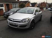 VAUXHALL ASTRA 1.7CDTI SILVER 05-55reg 5 DOOR 1/2 LEATHER SPARES OR REPAIR  for Sale