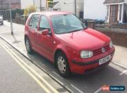 2002 VOLKSWAGEN GOLF E RED for Sale