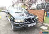Classic Black BMW X5 3.0 Diesel 2002 private plate worth ??400 included  for Sale