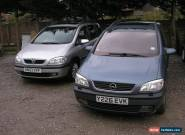 PAIR OF VAUXHALL ZAFIRAS,  2003 2.0 DTI AND 2001 Y 1.8 PETROL. READ DESCRIPTION for Sale