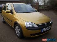 2002 VAUXHALL CORSA SXI 16V YELLOW for Sale