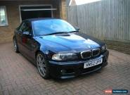 BMW M3 SMG CONVERTIBLE, BLACK, 2002, 62,000 MILES, HUGE SPEC ! for Sale