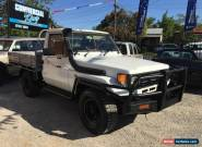 TOYOTA LANDCRUISER 1992 75 SERIES 4X4 1HZ 4.2L DIESEL STEEL TRAY UTE 79  for Sale