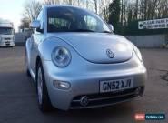 VW BEETLE 1.9 TDI SILVER 2002 (52 PLATE)FULL MOT for Sale