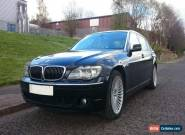 BMW 7 SERIES 750LI AUTO BLACK 2006 - 2 owners, perfect colour combo. for Sale