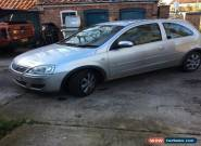 2005 VAUXHALL CORSA BREEZE SILVER SPARES OR REPAIRS for Sale
