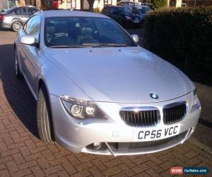 Classic SILVER BMW 6 SERIES3.0 630i SPORT 2dr AUTO COUPE- 1ST REGD2/2/07 -MOT-OWNERS MAN for Sale