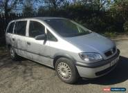 55 VAUXHALL ZAFIRA 1.6 LIFE SILVER 7 SEATER MPV ISOFIX 1 FORMER KEEPER MOT HPI  for Sale