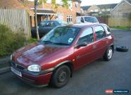 1998 VAUXHALL CORSA GLS 1.4I AUTO RED. 64K MILES. 1 YR MOT for Sale