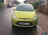 2009 FORD FIESTA ZETEC GREEN WITH MOT TILL END OF DECEMBER 2016 & VERY LOW MILES for Sale