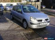 2005 RENAULT CLIO RUSH 8V SILVER 78,675 miles MOT Jan 2017 for Sale