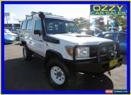 2007 Toyota Landcruiser VDJ78R Workmate (4x4) 3 Seat White Manual 5sp M for Sale