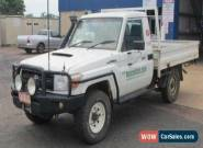 2009 Toyota Landcruiser VDJ79R Workmate (4x4) White Manual 5sp M Cab Chassis for Sale